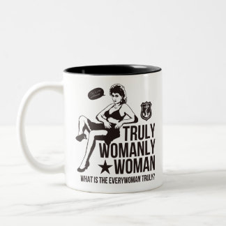 Sexy woman Two-Tone coffee mug