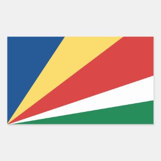 Seychelles/bandera de Seychelles Pegatina Rectangular