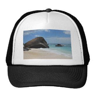 Seychelles beach trucker hat