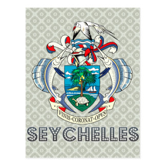 Seychelles Coat of Arms Postcard