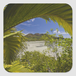 Seychelles, Curieuse Island, Laraie Bay Square Sticker
