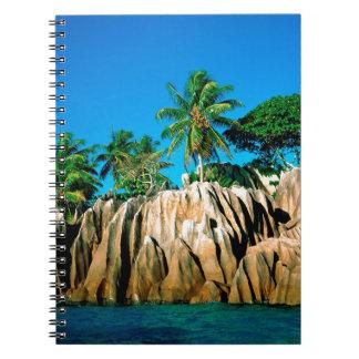Seychelles encontradas isla tropical libreta