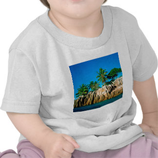 Seychelles encontradas isla tropical camisetas