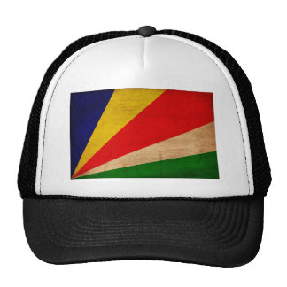Seychelles Flag Trucker Hat