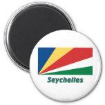 Seychelles Flag with Name Fridge Magnets