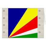 Seychelles High quality Flag Card