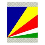 Seychelles High quality Flag Post Cards