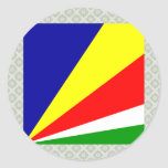 Seychelles High quality Flag Stickers