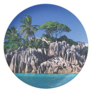 Seychelles. Ilot St Pierre (cerca de Praslin Plato De Cena