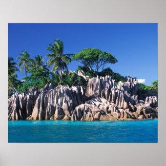 Seychelles. Ilot St Pierre (cerca de Praslin Póster