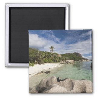 Seychelles, isla de Digue del La, estado de L'Unio Imán Cuadrado