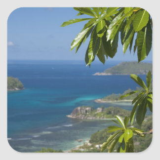 Seychelles, Island of Mahe. Western coast of Square Sticker