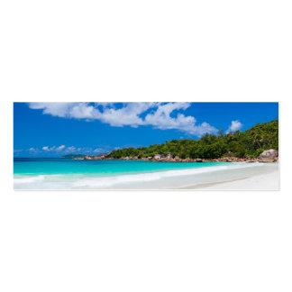 Seychelles. La costa costa de la piedra Tarjetas De Visita Mini