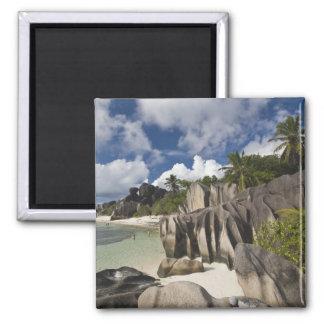Seychelles, La Digue Island, L'Union Estate 2 Inch Square Magnet