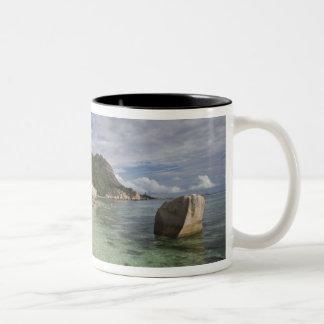Seychelles, La Digue Island, L'Union Estate 2 Two-Tone Coffee Mug