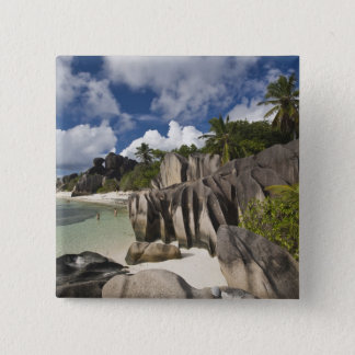 Seychelles, La Digue Island, L'Union Estate Pinback Button