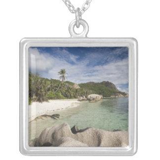 Seychelles, La Digue Island, L'Union Estate Silver Plated Necklace