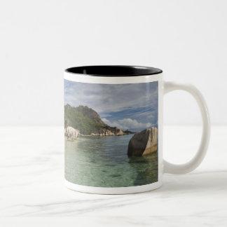 Seychelles, La Digue Island, L'Union Estate Two-Tone Coffee Mug