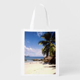Seychelles mahe beach grocery bags
