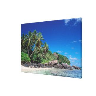 Seychelles, Mahe Island, Anse Royale Beach. 2 Canvas Print