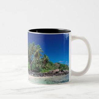 Seychelles, Mahe Island, Anse Royale Beach. 2 Two-Tone Coffee Mug