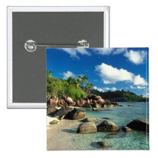 Seychelles, Mahe Island, Anse Royale Beach. 3 Button