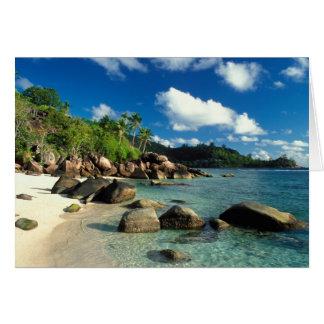 Seychelles, Mahe Island, Anse Royale Beach. 3 Card