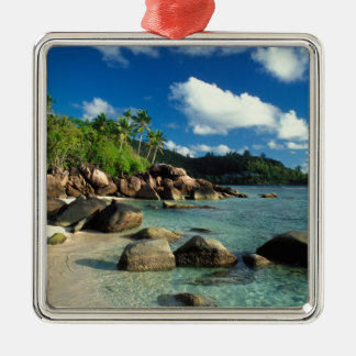 Seychelles, Mahe Island, Anse Royale Beach. 3 Metal Ornament