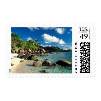 Seychelles, Mahe Island, Anse Royale Beach. 3 Postage Stamp