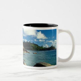 Seychelles, Mahe Island, Anse Royale Beach. 3 Two-Tone Coffee Mug