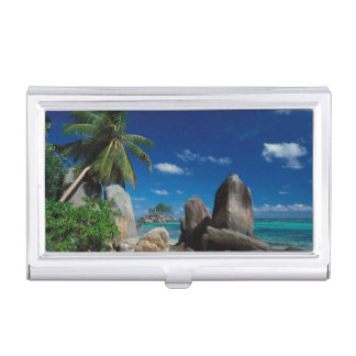 Seychelles, Mahe Island, Anse Royale Beach. Business Card Holder