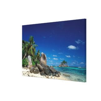 Seychelles, Mahe Island, Anse Royale Beach. Canvas Print