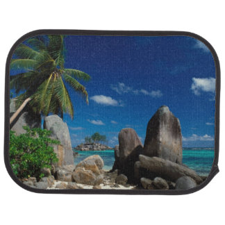 Seychelles, Mahe Island, Anse Royale Beach. Car Mat