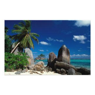 Seychelles, Mahe Island, Anse Royale Beach. Photographic Print