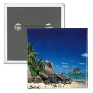 Seychelles, Mahe Island, Anse Royale Beach. Pinback Button