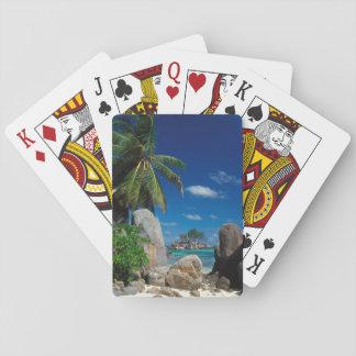 Seychelles, Mahe Island, Anse Royale Beach. Playing Cards