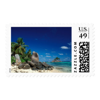 Seychelles, Mahe Island, Anse Royale Beach. Postage