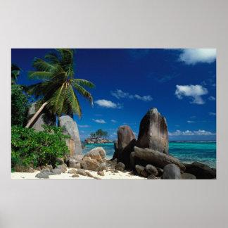 Seychelles, Mahe Island, Anse Royale Beach. Poster