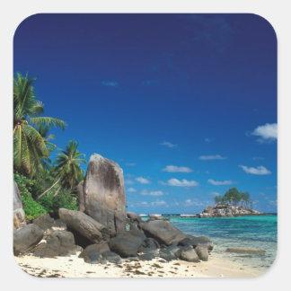 Seychelles, Mahe Island, Anse Royale Beach. Square Sticker
