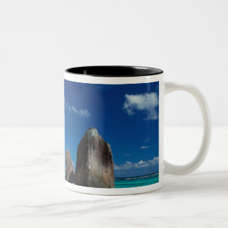 Seychelles, Mahe Island, Anse Royale Beach. Two-Tone Coffee Mug