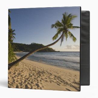 Seychelles, Mahe Island, Anse Takamaka beach, Vinyl Binder