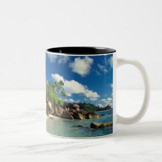 Seychelles, Mahe Island, Lazare Bay Two-Tone Coffee Mug