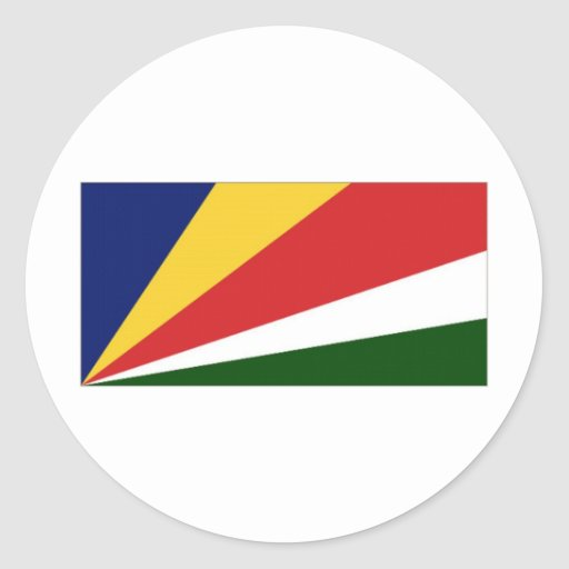 Seychelles National Flag Round Stickers