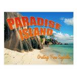 Seychelles paradise postcard