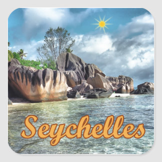 Seychelles Pegatina Cuadrada