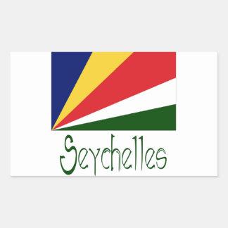 Seychelles Pegatina Rectangular