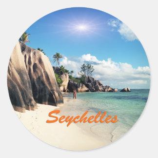 Seychelles Pegatina Redonda