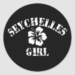 Seychelles Pink Girl Sticker