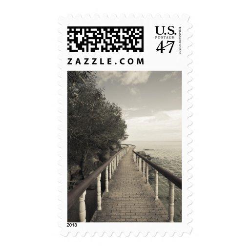 Seychelles, Praslin Island, Anse Bois de Rose, Postage Stamp