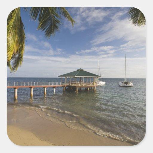 Seychelles, Praslin Island, Anse Bois de Rose, Sticker
